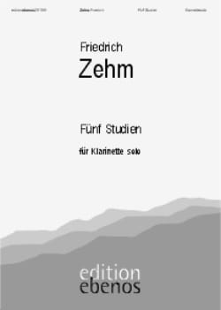 Friedrich Zehm - 5 Studien - Solo Klarinette - Sheet Music - di-arezzo.co.uk