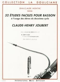 Claude-Henry Joubert - 32 Etudes faciles pour basson - Partition - di-arezzo.fr