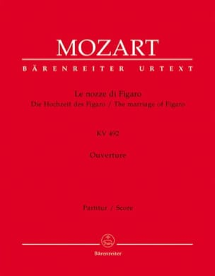 Le nozze di Figaro, Ouverture KV 492 - Partitur MOZART laflutedepan