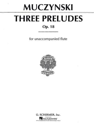 Robert Muczynski - 3 Preludes For Flute Solo Opus 18 - Sheet Music - di-arezzo.co.uk