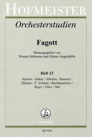 Seltmann Werner / Angerhöfer Günter - Orchesterstudien - Fagott – Heft 13 - Partition - di-arezzo.fr