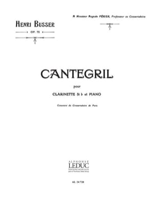 Henri Busser - Cantegril op. 72 - Sheet Music - di-arezzo.co.uk