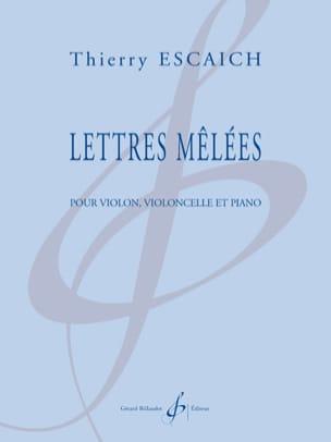 Lettres mêlées -Partition + Parties Thierry Escaich laflutedepan