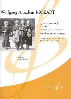 Quartetto n° 5 en la majeur (KV 331) –Flûte et trio à cordes - laflutedepan.com