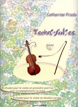 Techni Folies, Volume 1 Catherine Prada Partition laflutedepan