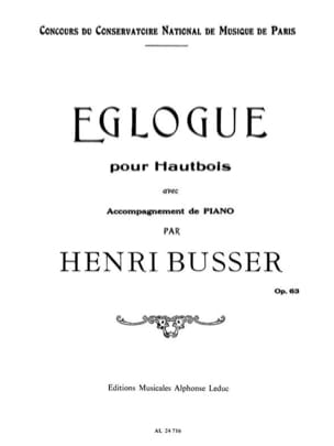 Eglogue op. 63 Henri Busser Partition Hautbois - laflutedepan