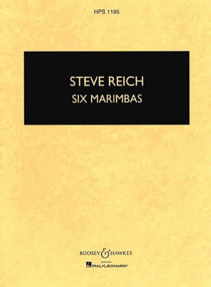 Steve Reich - Six Marimbas - Sheet Music - di-arezzo.co.uk