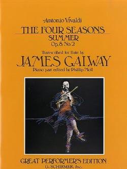 Vivaldi Antonio / Galway James - The Four Seasons Summer - Flute And Piano - Partition - di-arezzo.fr