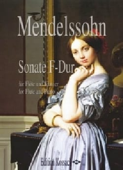Bartholdy Felix Mendelssohn - Sonate F-Dur – Flöte Klavier - Partition - di-arezzo.fr