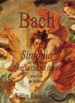 Sinfonia BWV 219 BACH Partition Flûte traversière - laflutedepan