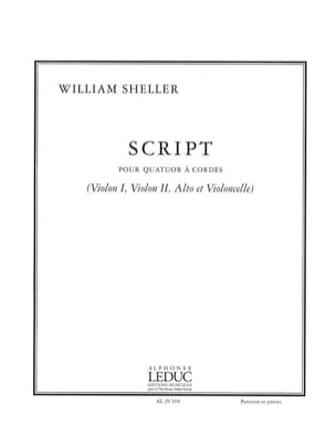 William Sheller - Script - Conductor Parties - Sheet Music - di-arezzo.com