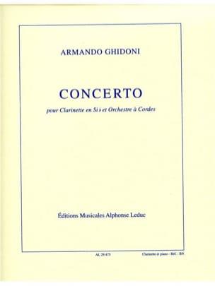 Concerto pour clarinette - Armando Ghidoni - laflutedepan.com
