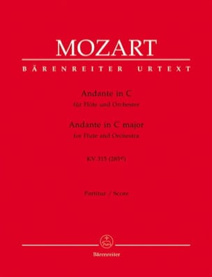 MOZART - Andante C-Dur for Flute and Orch. KV 315 - Partitur - Sheet Music - di-arezzo.co.uk