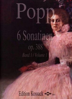 6 Sonatinen Op. 388 Volume 1 Wilhelm Popp Partition laflutedepan