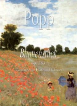 Blumenstück - Flöte Klavier Wilhelm Popp Partition laflutedepan
