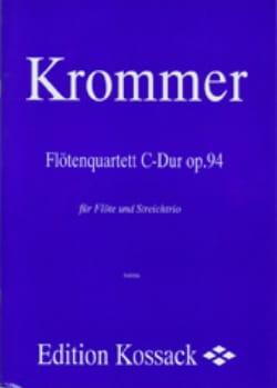 Franz Krommer - Flötenquartett C-Dur op. 94 –Flöte Streichtrio - Partitur + Stimmen - Partition - di-arezzo.fr