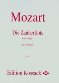 Die Zauberflöte, Ouverture - 4 Flûtes MOZART Partition laflutedepan
