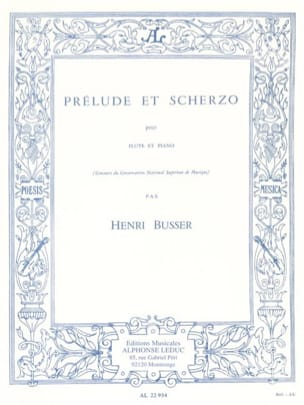 Henri Busser - Prelude and Scherzo op. 35 - Sheet Music - di-arezzo.co.uk