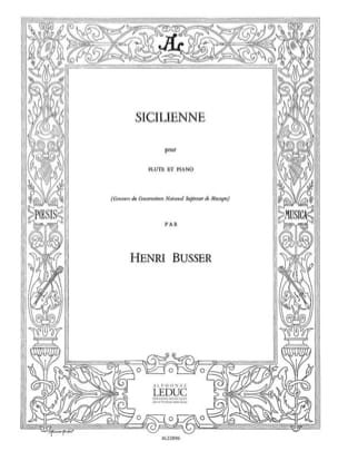 Henri Busser - Sicilian - Sheet Music - di-arezzo.co.uk