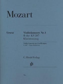 MOZART - Violin Concerto No. 1 in B flat major K. 207 - Sheet Music - di-arezzo.co.uk