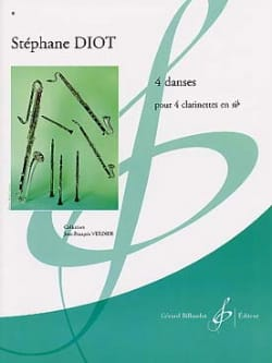 Stéphane Diot - 4 Danses - Partition - di-arezzo.fr