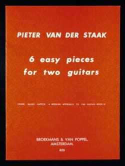 6 Easy pieces for 2 guitars Pieter van der Staak laflutedepan