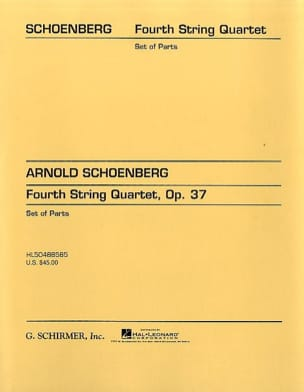 Arnold Schoenberg - String Quartet n° 4 op. 37 – Parts - Partition - di-arezzo.fr
