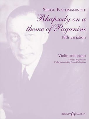 Variation N° 18 - RACHMANINOV - Partition - Violon - laflutedepan.com