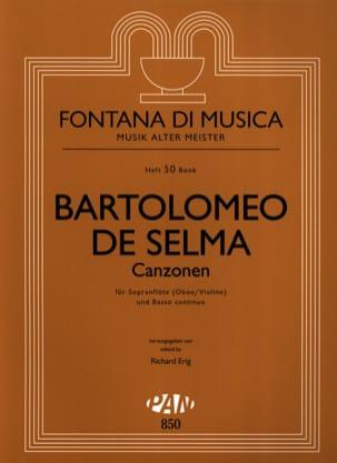 Y Salaverde Bartolomeo De Selma - Canzonen - Sopranflöte Oboe / Violine u. Bc - Sheet Music - di-arezzo.com