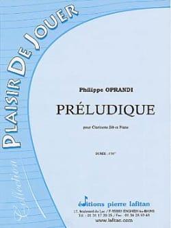 Philippe Oprandi - Préludique - Partition - di-arezzo.fr