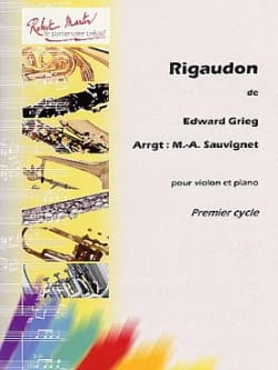 Edvard Grieg - rigaudon - Partition - di-arezzo.co.uk