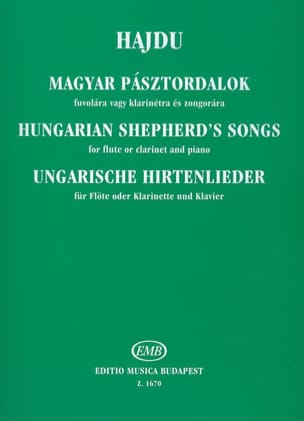 Mihaly Hajdu - Hungarian Shepherd's Songs - Partition - di-arezzo.fr