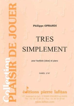 Philippe Oprandi - Très simplement - Partition - di-arezzo.fr