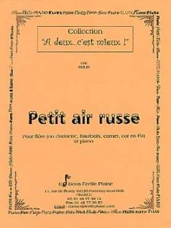 Eric Hulin - Petit air russe - Flûte ou clarinette, ... - Partition - di-arezzo.fr