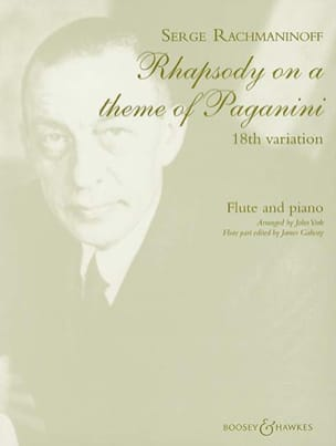 Serge Rachmaninov - Variation N° 18 - Partition - di-arezzo.fr