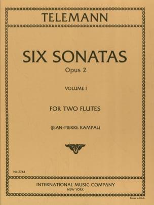 6 Sonatas op. 2 Volume 1 - 2 Flöten - TELEMANN - laflutedepan.com