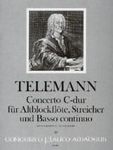 Concerto C-Dur - Altblockflöte TELEMANN Partition laflutedepan