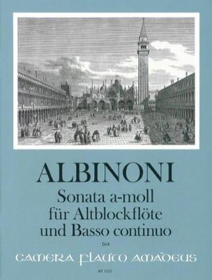 Tomaso Albinoni - Sonata in a-moll - Altblockflöte u. Bc - Partition - di-arezzo.fr