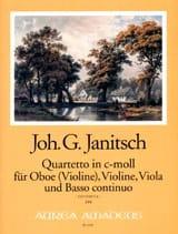Quartetto En Do Min. - Johann Gottlieb Janitsch - laflutedepan.com