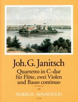 Johann Gottlieb Janitsch - Quartetto in C-Dur - Flauto 2 Violen BC - Partitura - di-arezzo.it