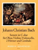 Johann Christian Bach - Sextett In C-Dur - violín oboe Violoncello 2 Hörner Cembalo - Partitura - di-arezzo.es