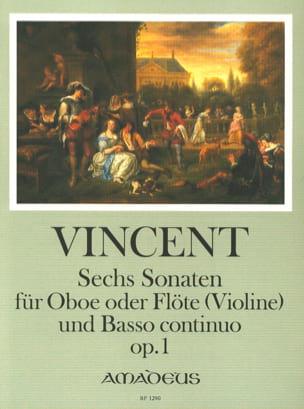 Thomas Vincent - 6 Sonaten op. 1 - Oboe o. Flöte (Violine) u. Bc - Partition - di-arezzo.fr