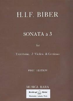 Heinrich Ignaz Franz Biber - Sonata a 3 in C-Dur -Trombone 2 Violins Bc - Partition - di-arezzo.fr
