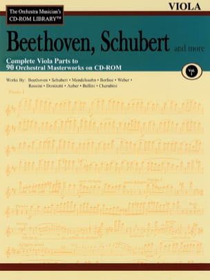 Schubert and more Beethoven, - Complete Viola Parts a 90 Orchestral Masterworks en CD-Rom - Volumen 1 - Partitura - di-arezzo.es