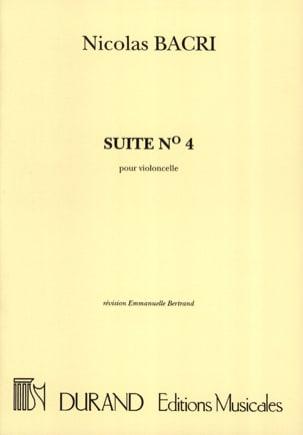 Suite n° 4 Nicolas Bacri Partition Violoncelle - laflutedepan