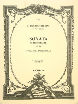 BOCCHERINI - Sonata in C minor - Sheet Music - di-arezzo.co.uk
