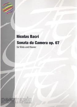 Sonata da Camera op. 67 - Alto piano Nicolas Bacri laflutedepan