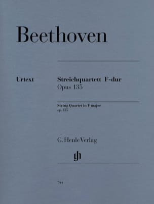 BEETHOVEN - F String Quartet op. 135 - Sheet Music - di-arezzo.com