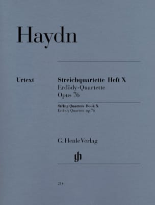 HAYDN - String Quartets X op. 76 Erdödy Foursomes - Sheet Music - di-arezzo.co.uk