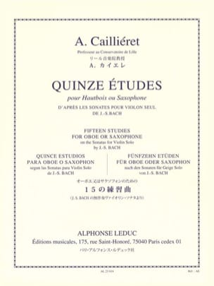 André Caillieret - 15 Studies - Sheet Music - di-arezzo.co.uk